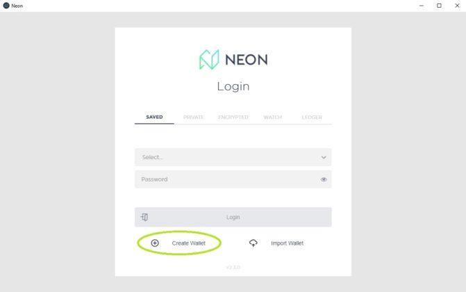neon login page