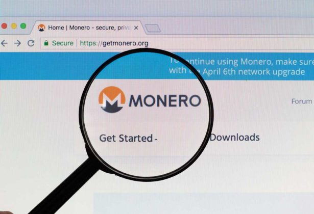 The logo of Monero on its website displayed on user's screen